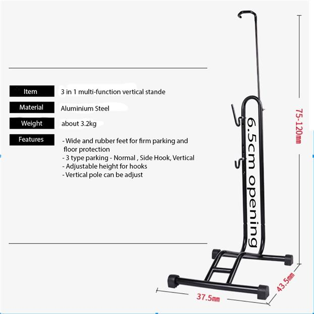 3 IN 1 VERTICAL STAND FOR ROADBIKE MTB BICYCLES
