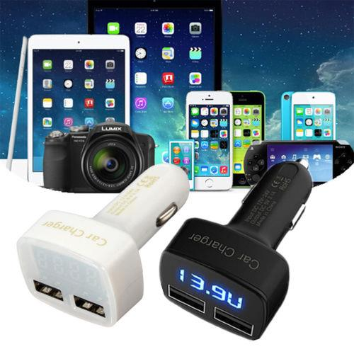 31A 4 In 1 Car Charger With Battery Voltmeter Display