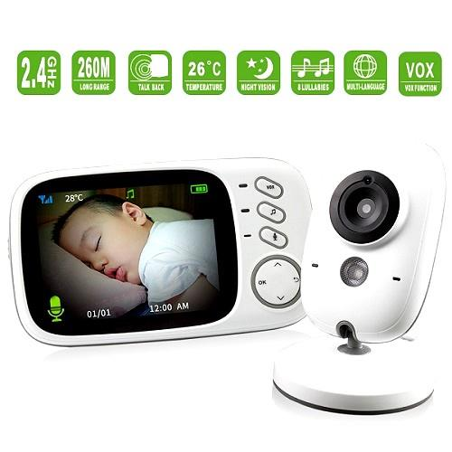 3.2 Inch Night Vision Baby Monitor (2 Way Talk) (WBM-05B).