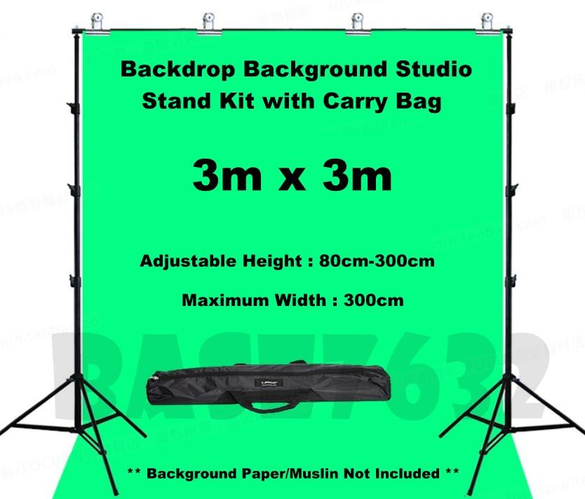 3*3m Backdrop Background Studio Shooting Stand Tripod Tripod Free Clip