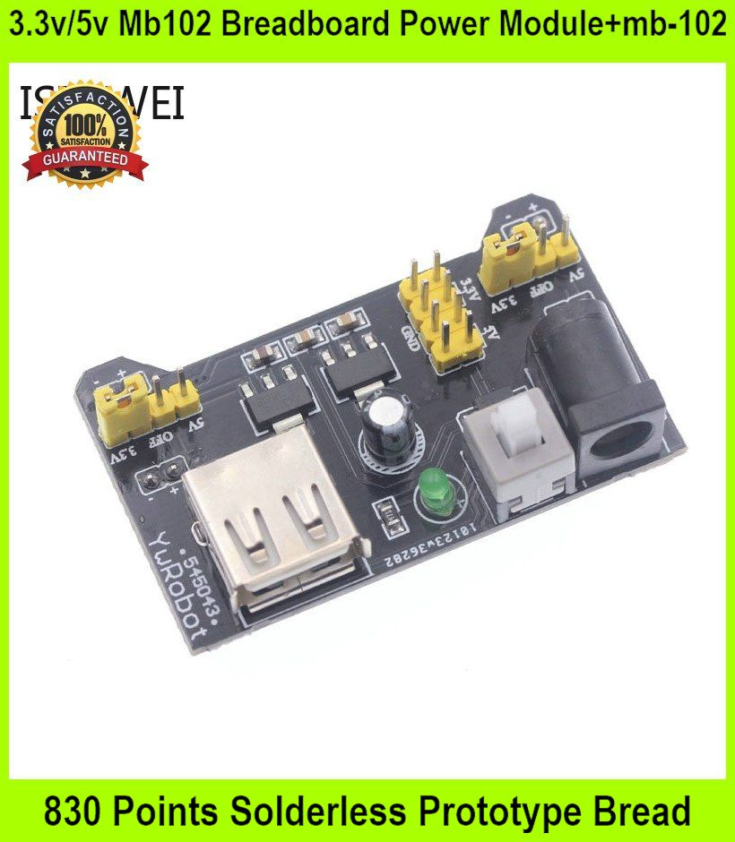 3.3v/5v Mb102 Breadboard Power Module+mb-102 830 Points Solderless Pro
