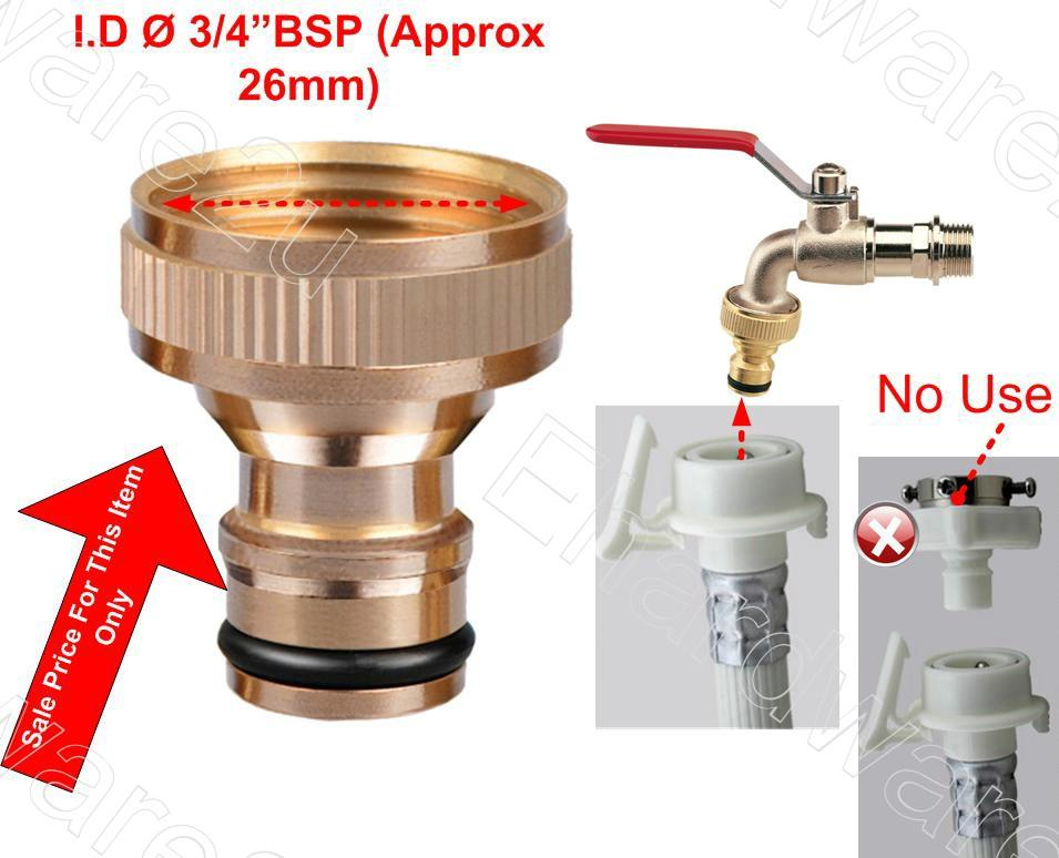 "3/4"" BRASS ADAPTOR FOR WASHING MACHINE & GARDEN CONNECTOR (906A)"