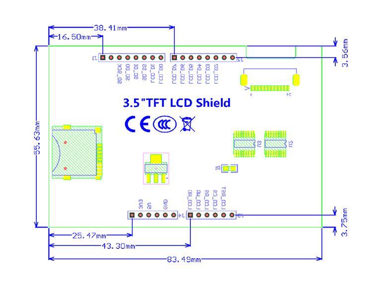 3 5 inch 480x320 TFT LCD Shield For Uno Mega2560