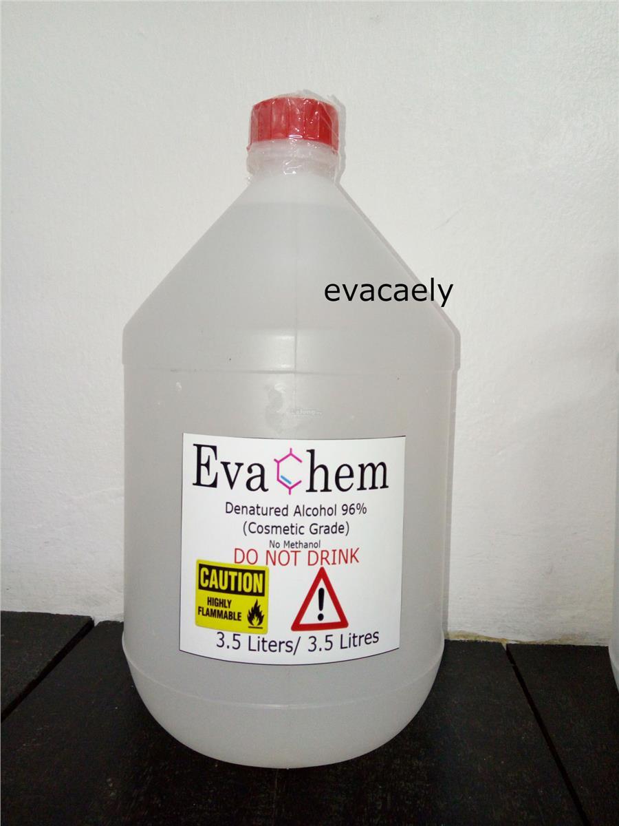 3 5 Liters of Denatured Alcohol 96% (Cosmetic Grade)