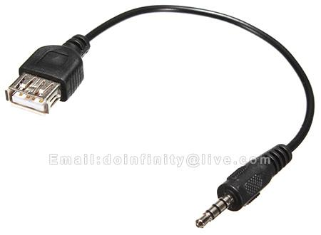 New 35mm aux male plug to usb 20 fe end 952016 339 pm new 35mm aux male plug to usb 20 female audio jack converter cable publicscrutiny Choice Image