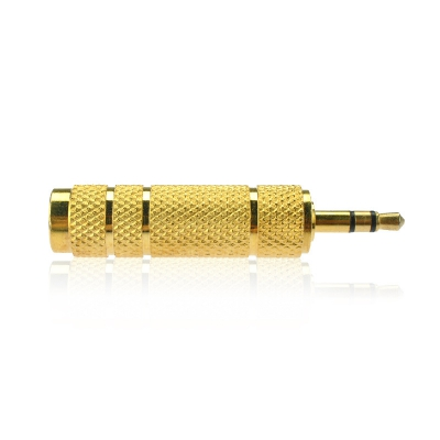 3.5MM Male Plug To 6.35MM Female Stereo Jack Adaptor Gold Plated For Audio Ear