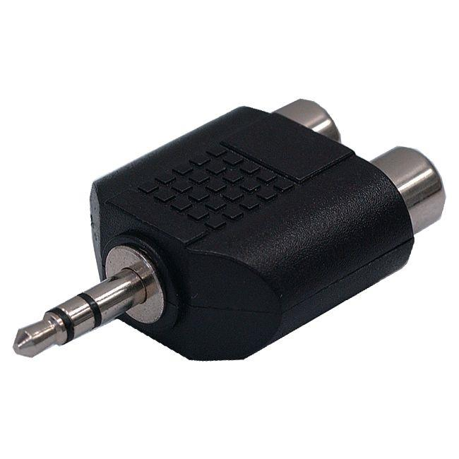 3.5mm Stereo Audio Plug Male to 2 RCA Jack Female Adapter Converter