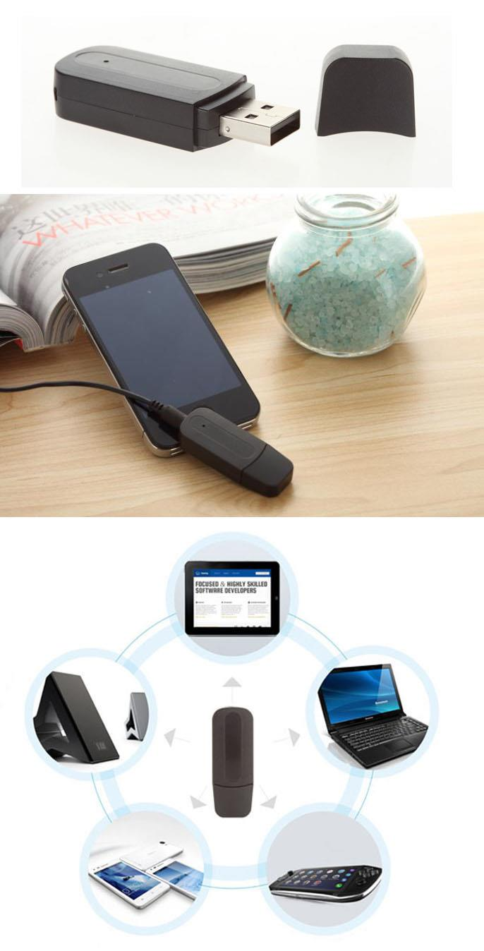 3.5mm Stereo Bluetooth Music Receiver Audio Dongle Adapter