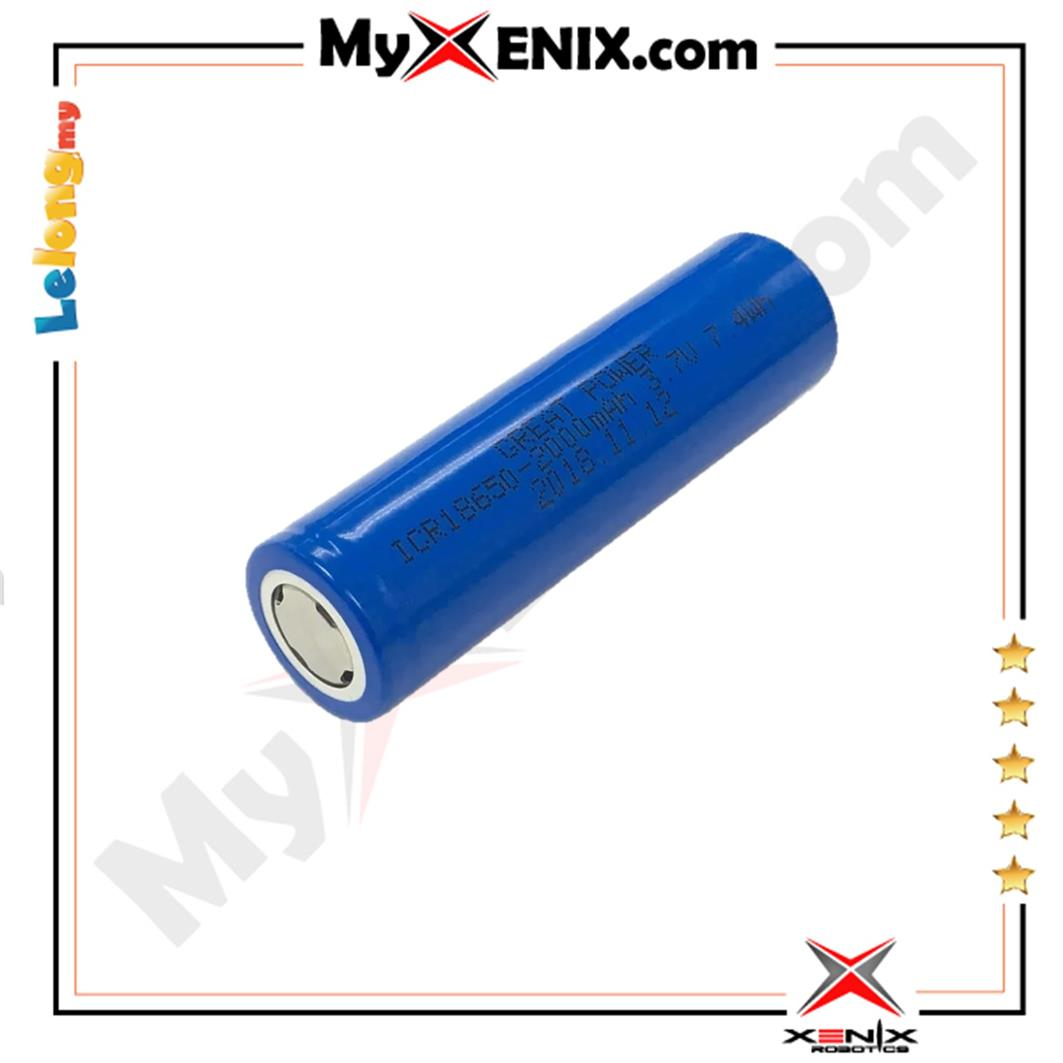 3.7V 2000mAh Li-Ion Battery