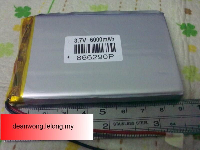 3.7V 6000mAH 8.6*62*90mm Lithium Ion battery for tablet