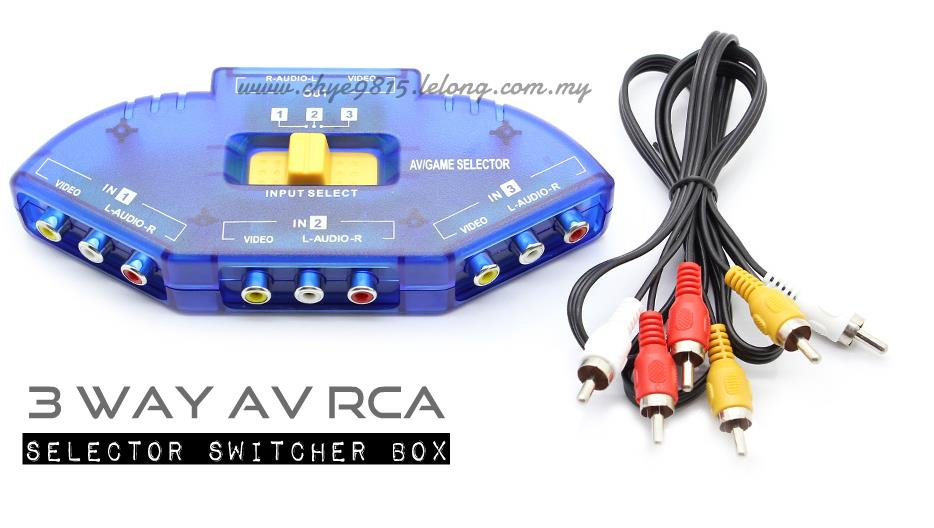 3 way av rca audio video selector sw (end 1 16 2019 7 15 pm)
