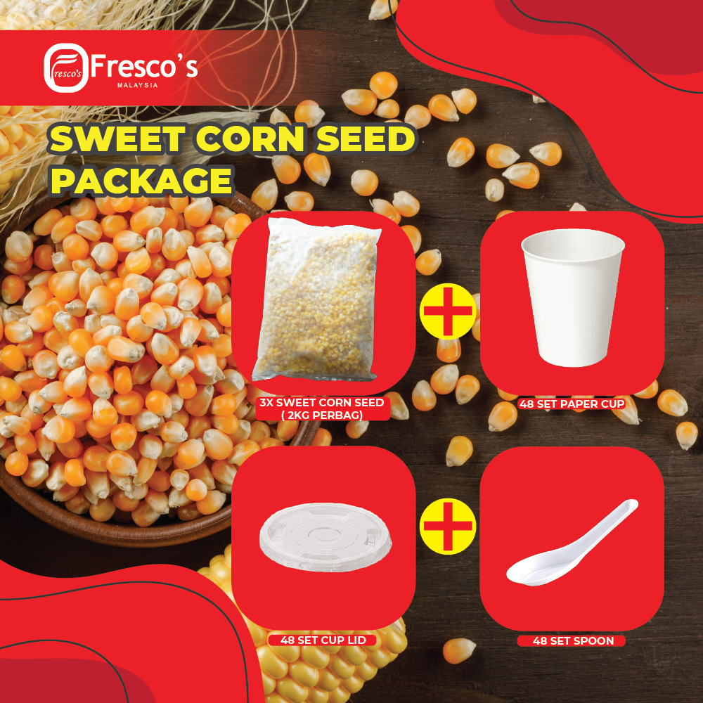 3 BAG SWEET CORN COMBO WITH PAPER CUP 6OZ + LID + SPOON