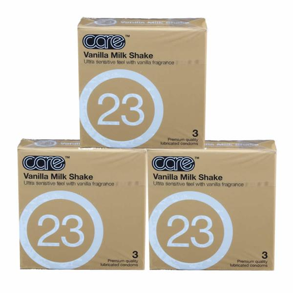 3 Boxes Care 23 - The Vanilla Milkshake Condom / Kondom 3pcs