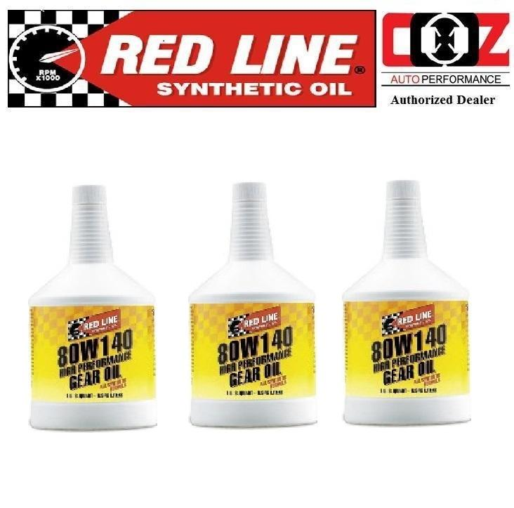 3 (BTL) RED LINE 80W140 GL-5 HIGH PERFORMANCE GEAR OIL