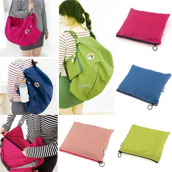 fd4742fb0142 3-Way Compact Foldable Waterproof Carry Travel Bag Backpack. ‹ ›