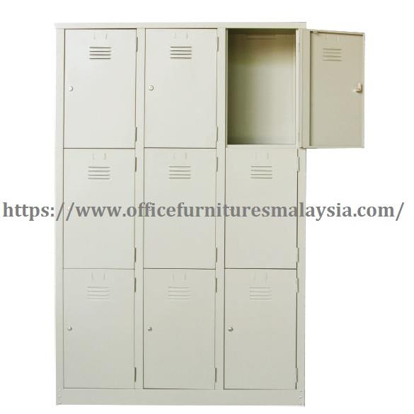 3 Compartment Steel Locker OFM105A | Office Furniture | Metal Cabinet