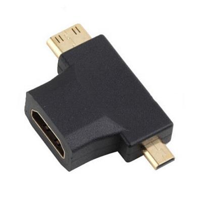 3 way HDMI Adapter Mini Micro Converter