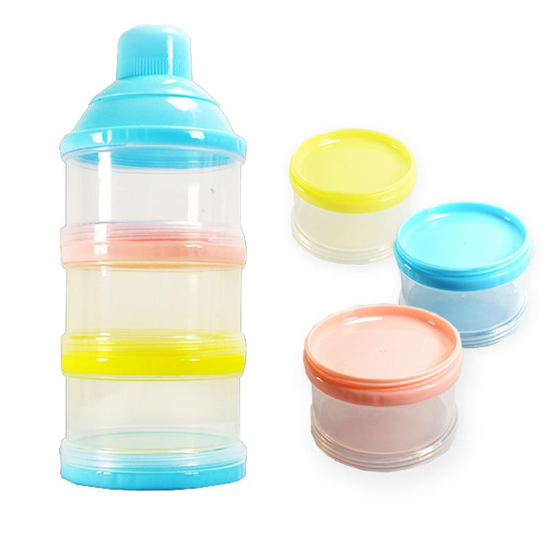 0caa1ea17762 3 Layer Portable Baby Food Milk Powder Container and Dispenser Bottle