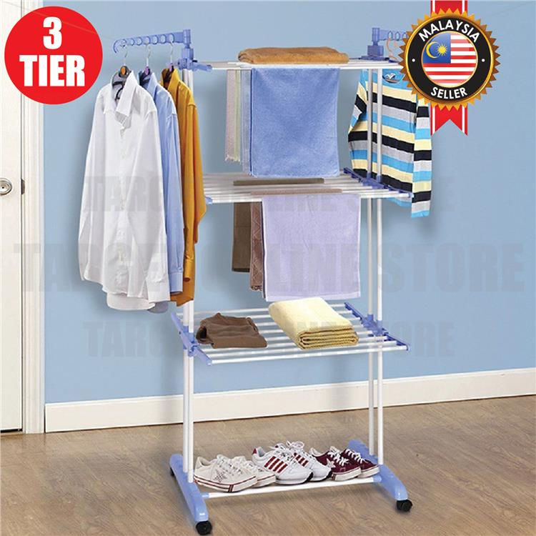 3 layer steel stand foldable drying end 5 23 2020 8 15 am. Black Bedroom Furniture Sets. Home Design Ideas