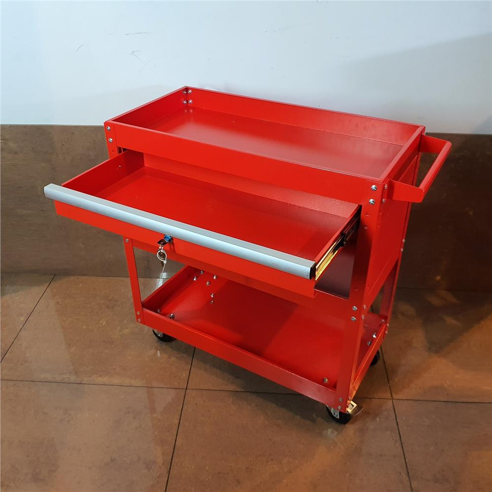 3 Layer Tool Trolley Cart Roller Cabinet Storage Box ID31627