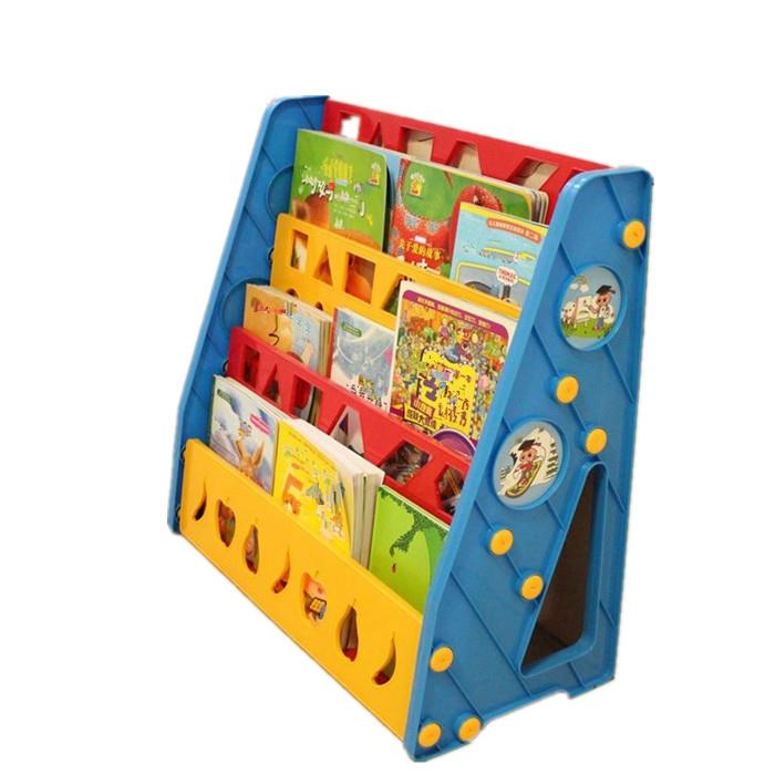 3 Level Plastic Kids Bookcase Bookshelf Toy Book Storage Tray