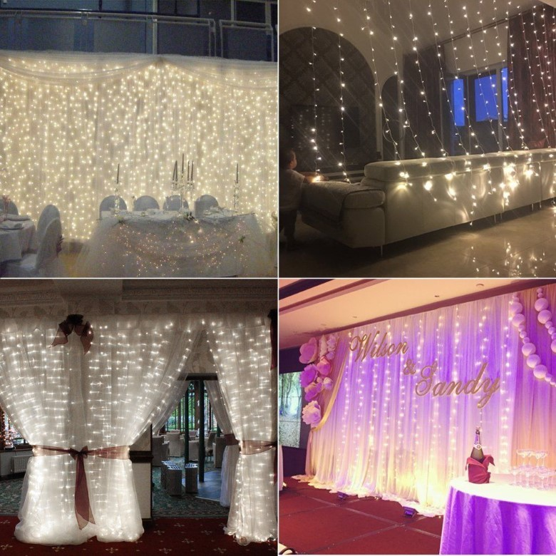 3-meter Party String Cafe Home Wedding Curtain LED Light 220V