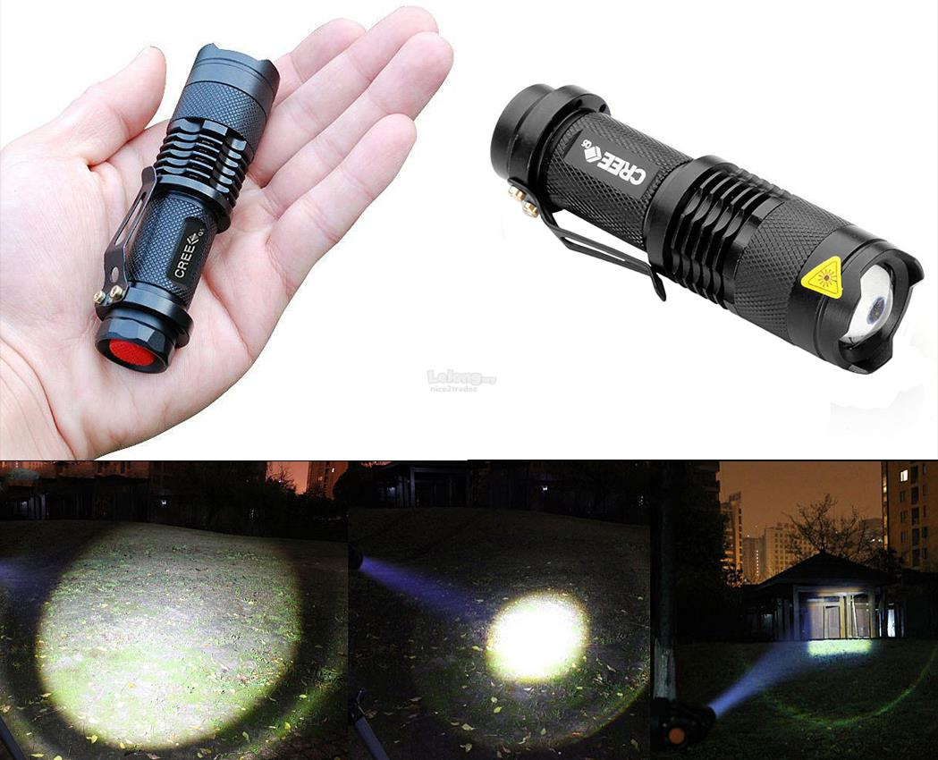 3 Mode Ultrafire Cree Q5 LED 200lm Mini Zoomable Flashlight Torch LR14
