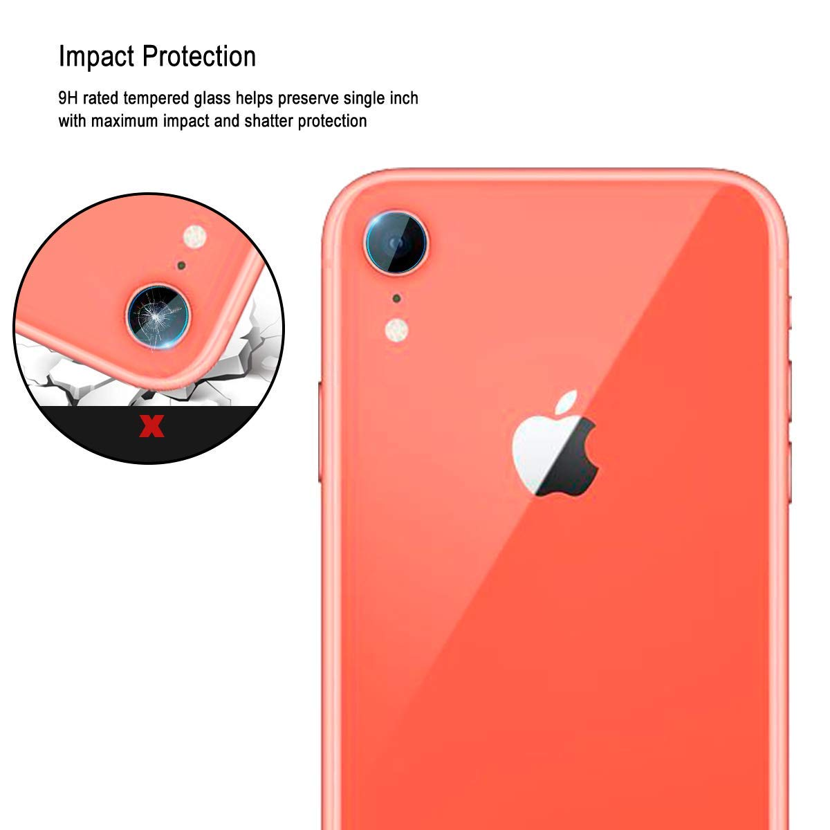 sports shoes 8d829 15950 3 Pack iPhone XR Ultra-thin Camera Lens Screen Protector Anti Fingerpr