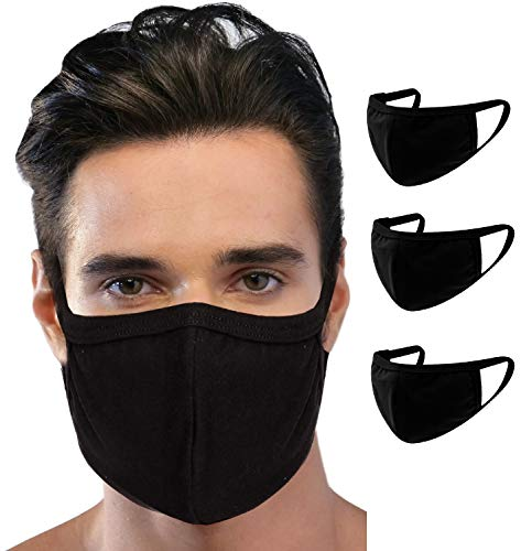 ..// 3 Pack Men Unisex Reusable Dust_Masks Washable Face_Mask Fashion Cover An