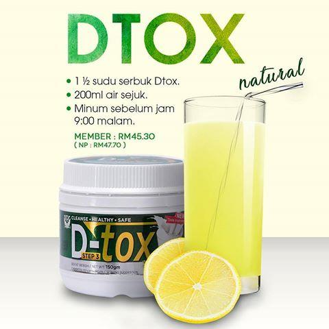 3 PC - DTox Natural Sendayu Tinggi (Cleanse, Healthy, Safe)