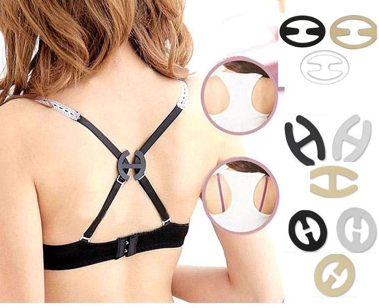 54e9a9f6b 3 Pcs Anti-slip Buckle Bra Strap Solution Perfect Concealer Clips. ‹ ›
