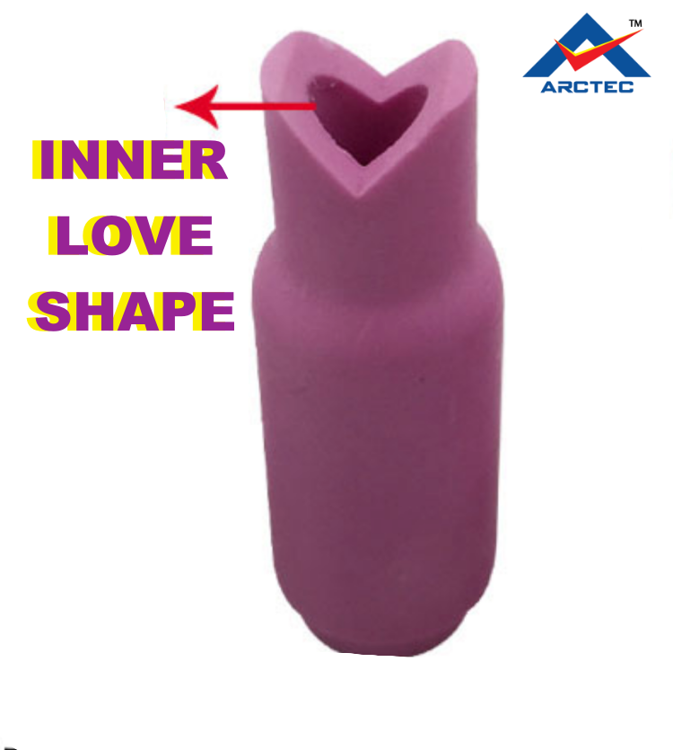3 PCS: LOVE SHAPE 90 degree welding ceramic cup TIG