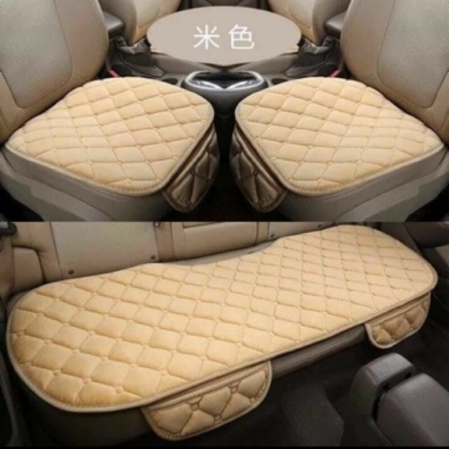 3 Pcs Non Slip Car Seat Cushion Cover Protector Full Set
