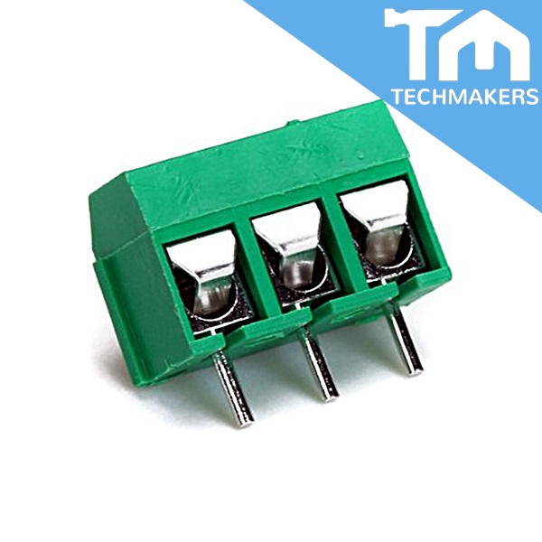 3 Pin Screw Terminal Block Connector 5mm Green