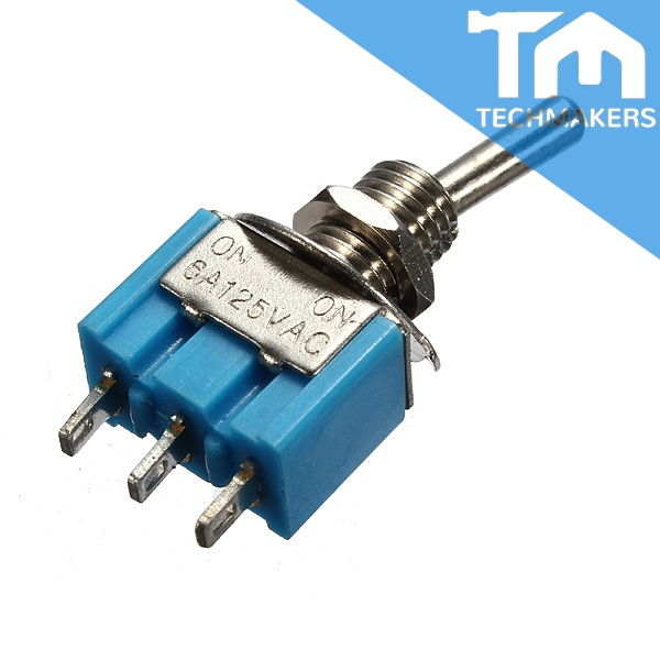 3 Pin Single Pole Double Throw SPDT Toggle Switch