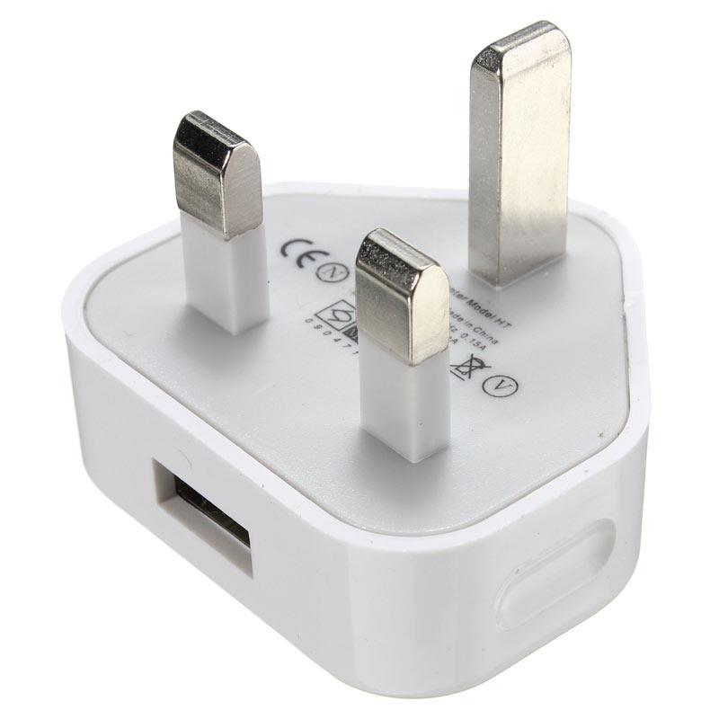 3 Pin UK Wall USB Charger Adapter Plug 3Pin for SAMSUNG IPHONE iPAD