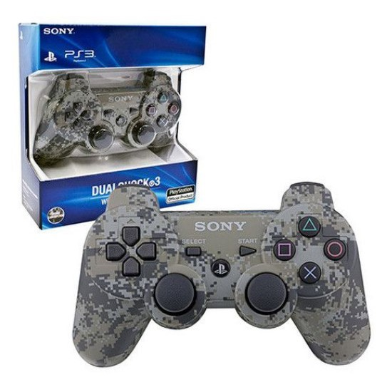 3 Ps3 WIRELESS Dualshock 3 Sixaxis Controller Joystick  - [CAMOU GREY]