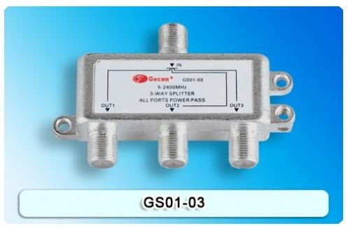 3 way Satellite Splitter GS01-03 for Astro