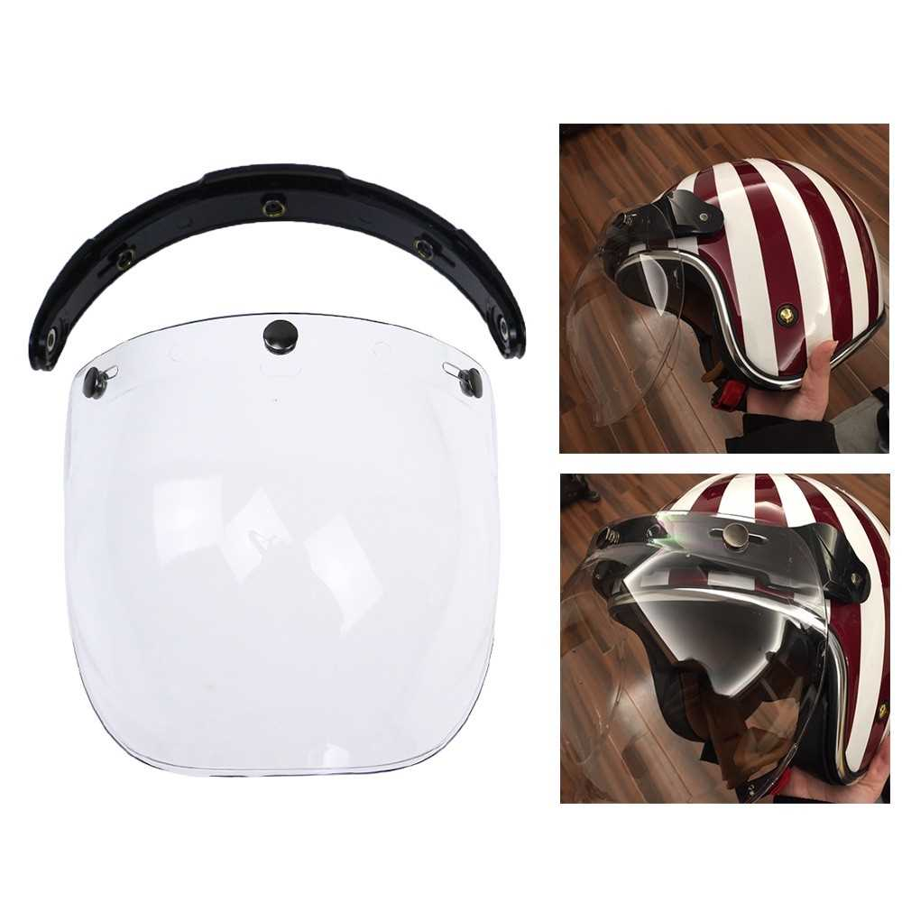 3-Snap Bubble Wind Shield Visor For Biltwell Gringo  & Bonanza Helmet