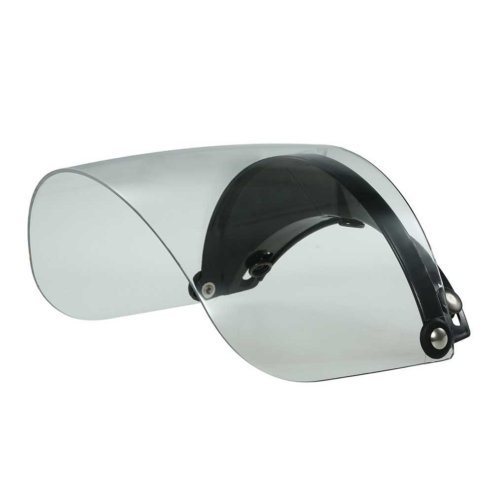 3 Snap Flip Up Visor Shield Lens for Retro Open Face Motorcycle