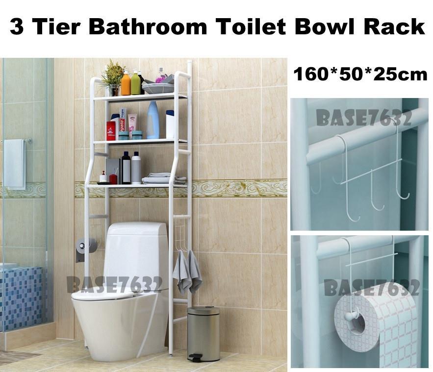 3 Tier Bathroom Toilet Bowl Storage (end 10/23/2018 3:15 PM)