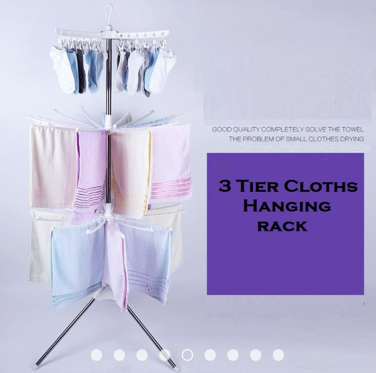 3 Tier Clothes Drying Rack / 3 layers Hanger / Ampai Baju