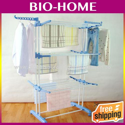 3 Tier Stainless Steel Foldable Portable Clothing Drying Rack Laundry