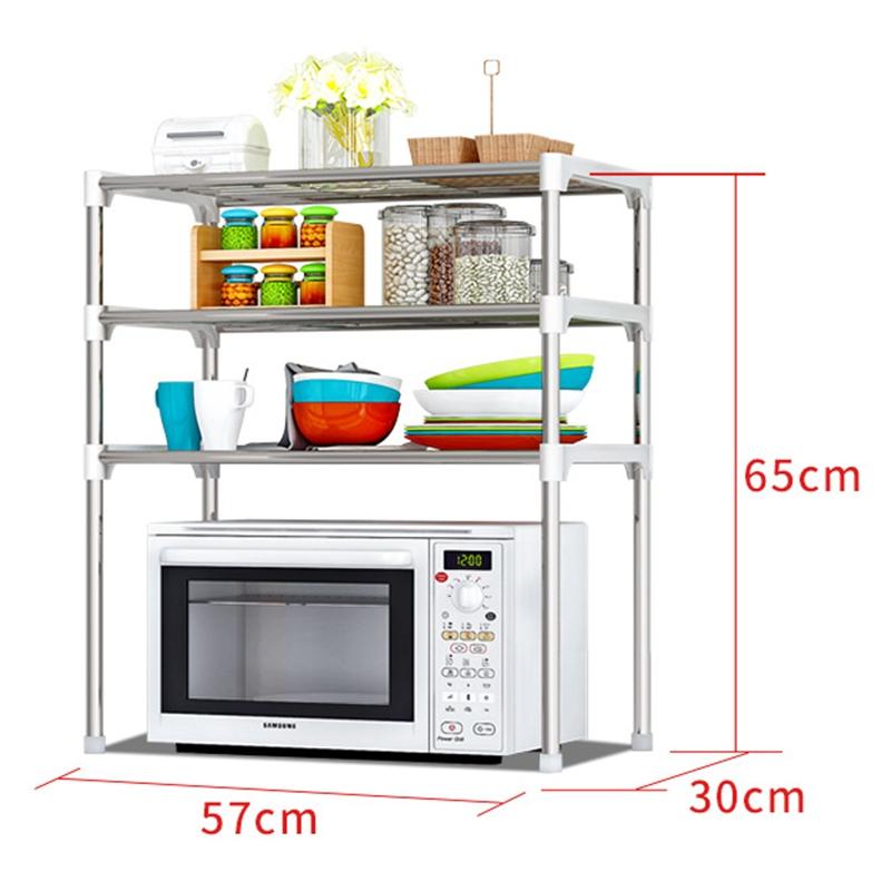 3 Tiers Layer Kitchen Rack Shelf Storage Organizer Shelves Microwave O  sc 1 st  Lelong.my & 3 Tiers Layer Kitchen Rack Shelf St (end 10/17/2020 9:42 PM)