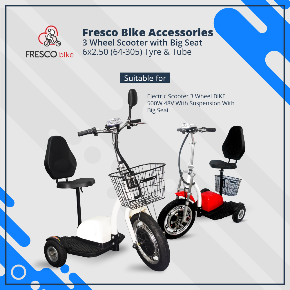 3 Wheel Scooter 6 x 2.50 (64-305) Tube