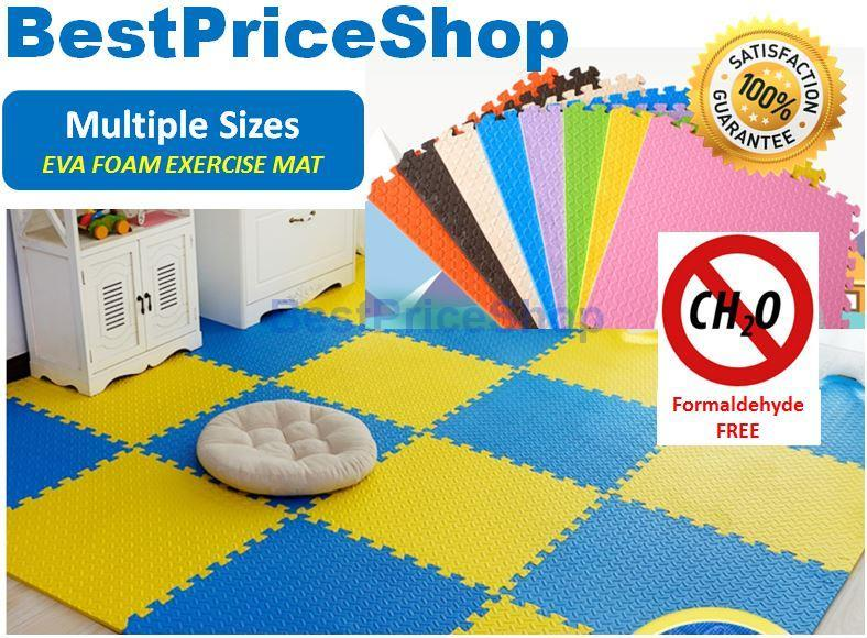 30*30cm Non Toxin Color Eva Soft Foam Exercise Yoga Gym Kids Floor Mat