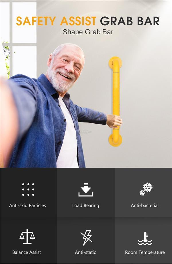 30/38/48cm Toilet Bathroom Grab Bar Elderly Safety Handrail Handle