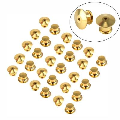 30 Pieces Golden Locking Pin Keepers Backs No Tool Required