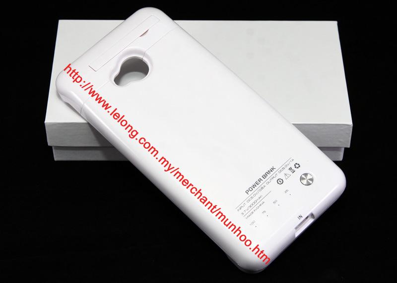3000mAh HTC ONE M7 POWERBANK Battery Charger Casing White Case