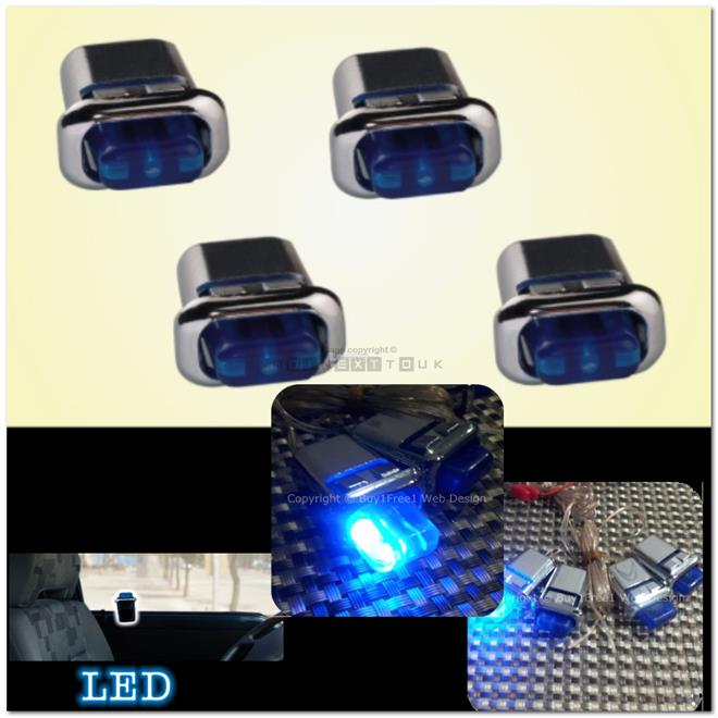 [3007] Toyota Unser 01-03 Door Lock Pin With Blue Led Light [4 Piece S